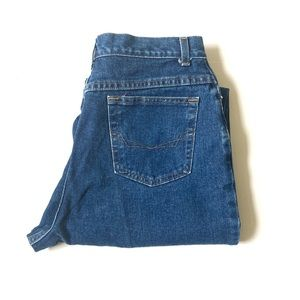 Vintage high waisted jeans 16 tall CHIC dark wash
